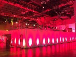 Custom multi-tier riser for event in Las Vegas