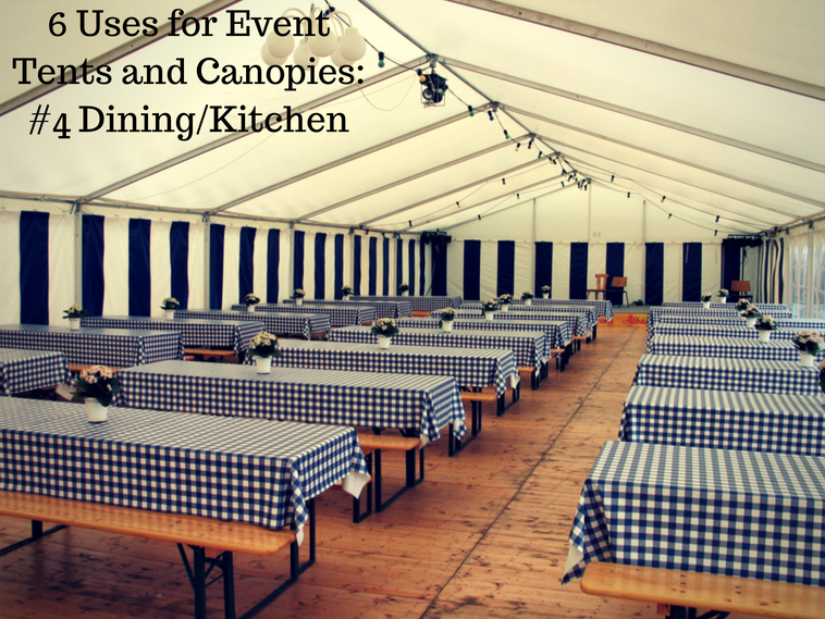outdoor dining tent rental