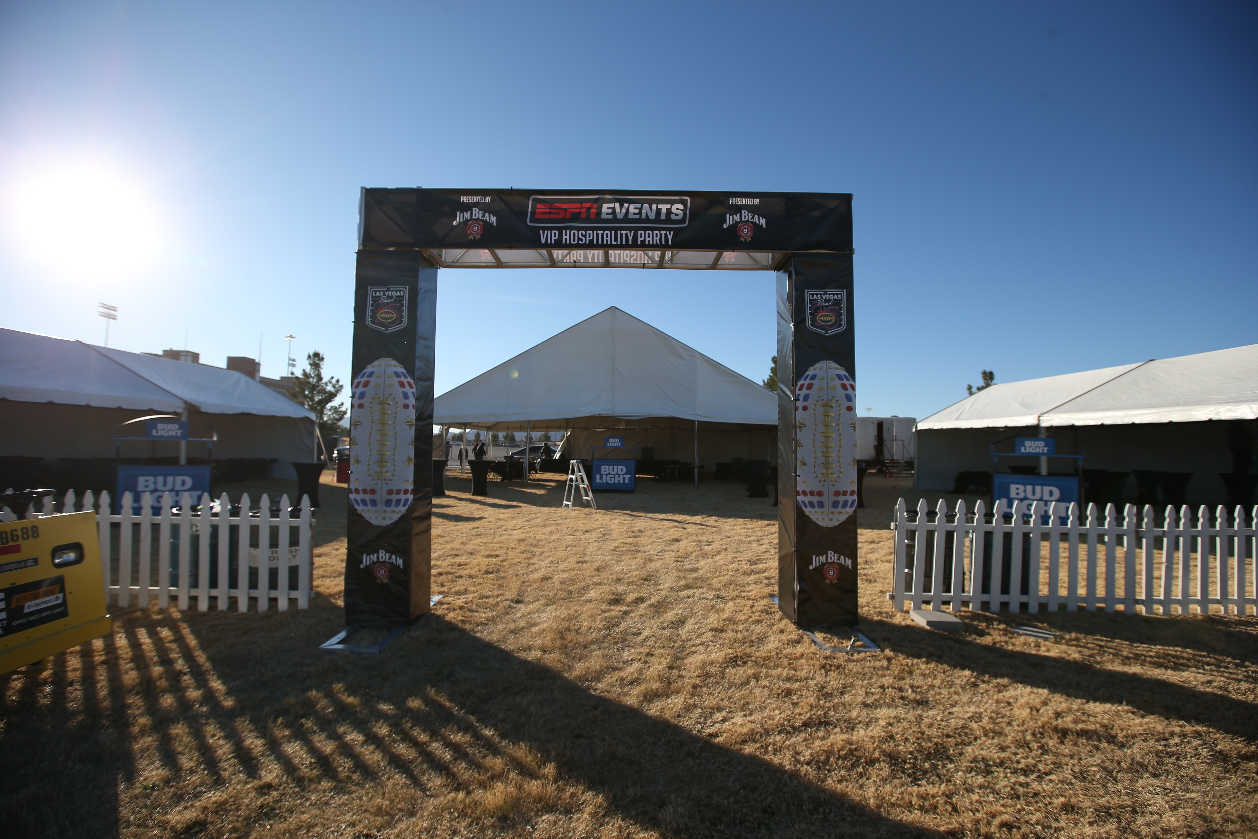 tent rentals in Las Vegas & Las Vegas Bowl - Our Work With Sporting Events